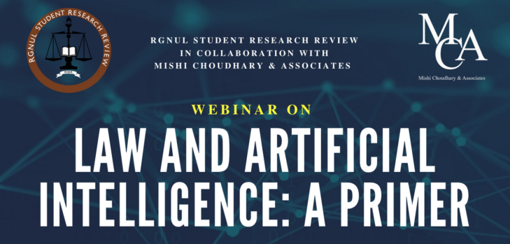 """Webinar on """"Law and Artificial Intelligence: A Primer"""